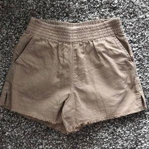 Golden by TNA khaki high waisted shorts. Sz xs